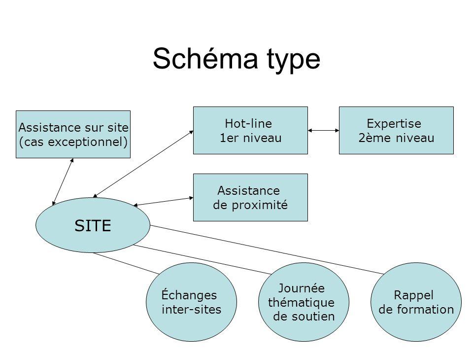 Schéma type SITE Hot-line 1er niveau Expertise 2ème niveau