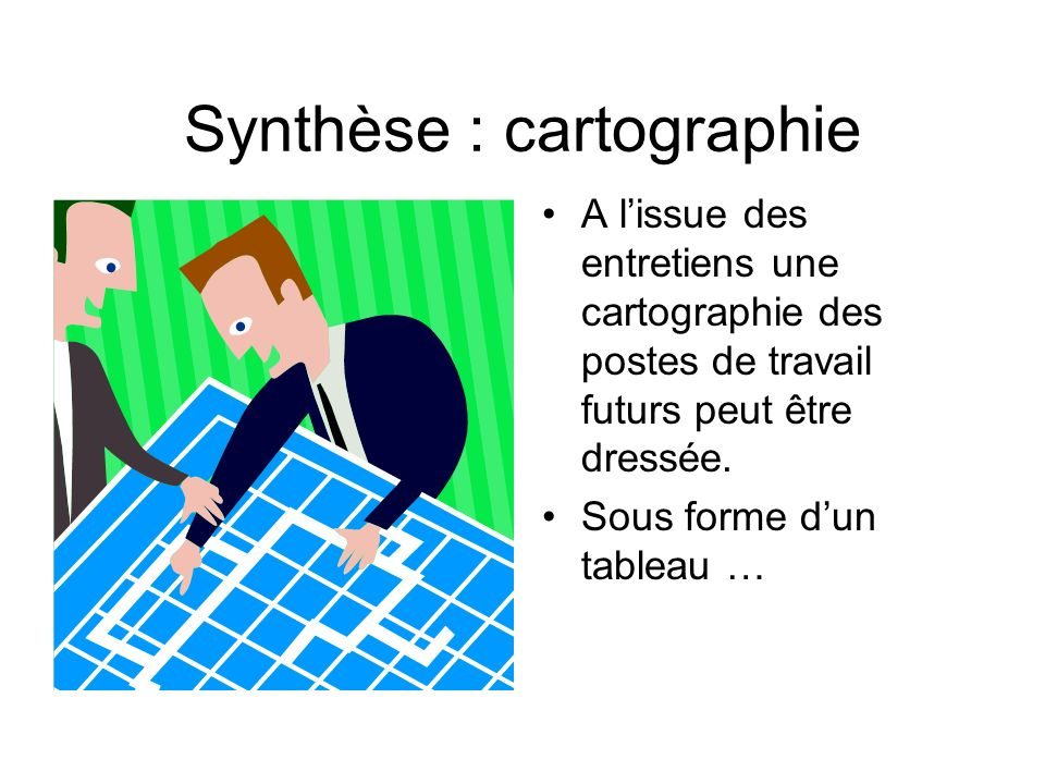 Synthèse : cartographie