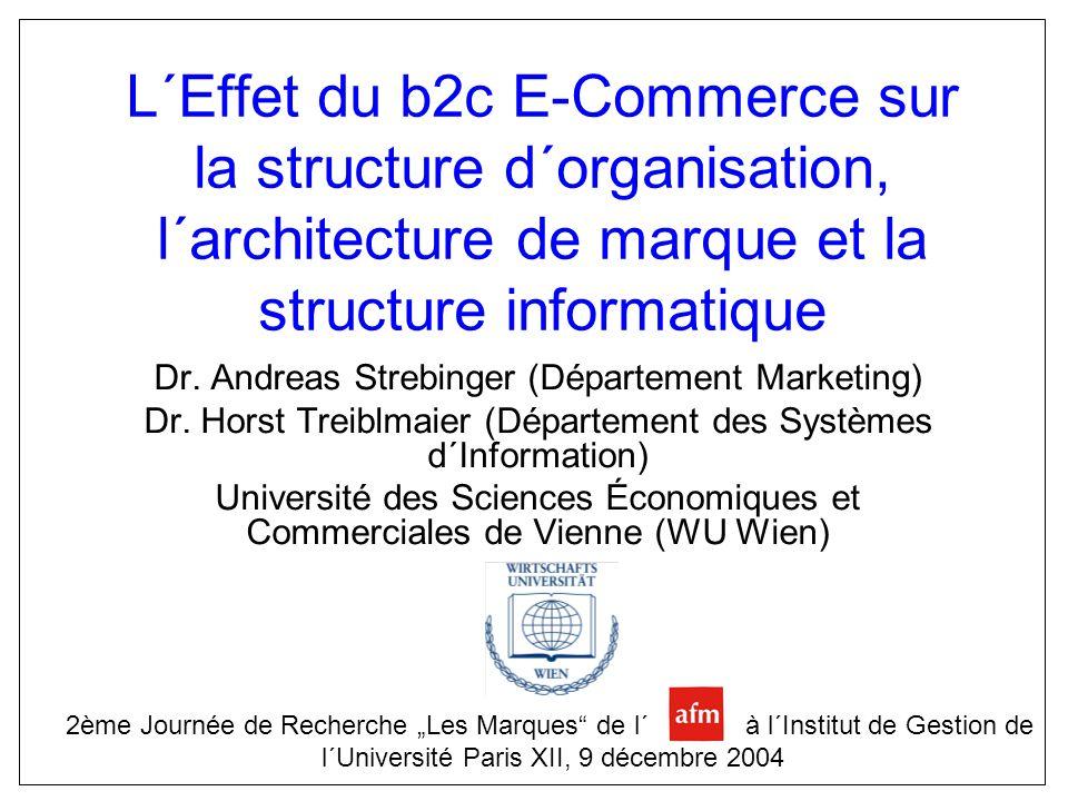 L´Effet du b2c E-Commerce sur la structure d´organisation, l´architecture de marque et la structure informatique