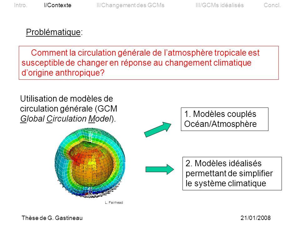 2. Modèles idéalisés permettant de simplifier le système climatique