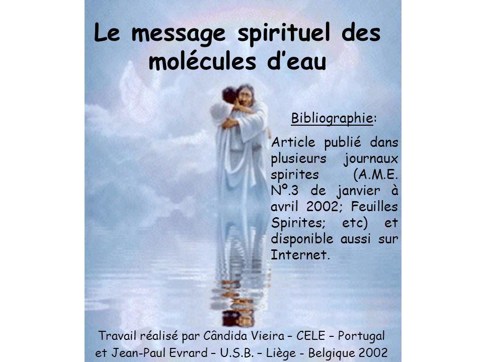 Le message spirituel des molécules d'eau