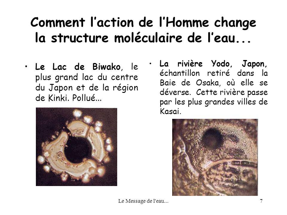 Comment l'action de l'Homme change la structure moléculaire de l'eau...