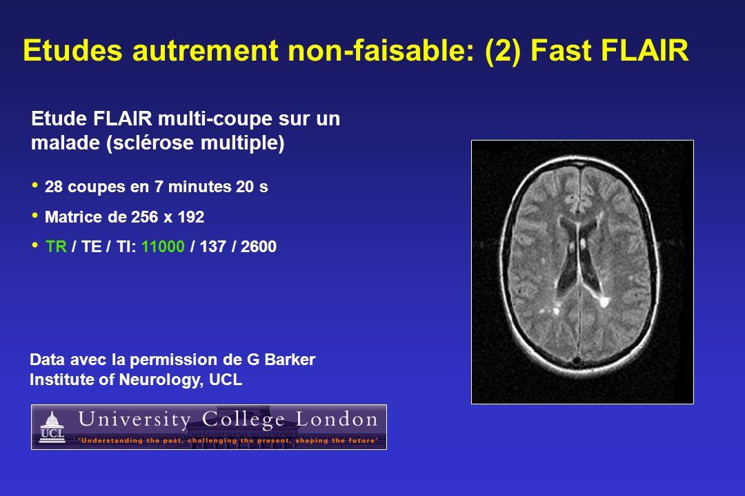 Etudes autrement non-faisable: (2) Fast FLAIR