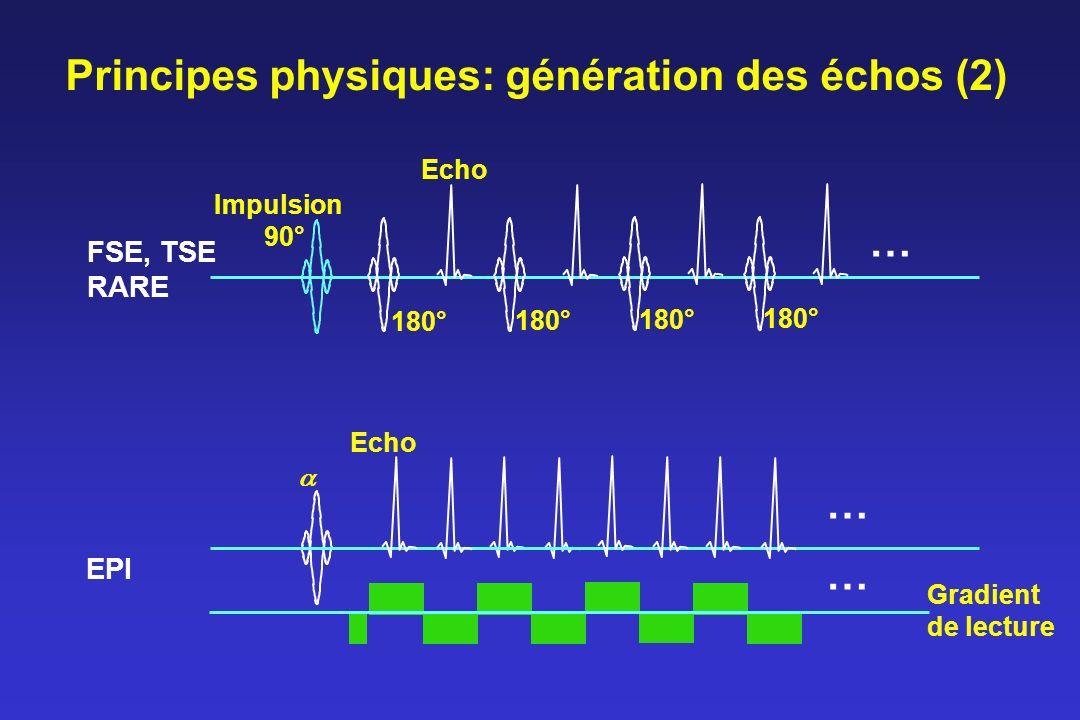 Principes physiques: génération des échos (2)
