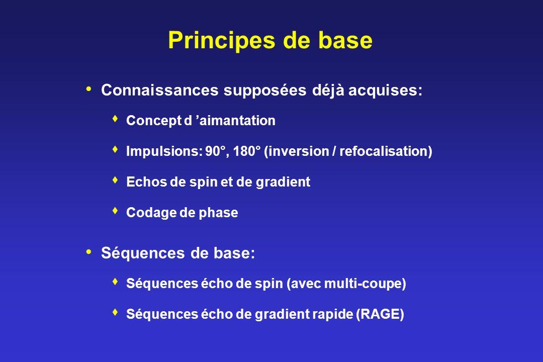 Principes de base Connaissances supposées déjà acquises: