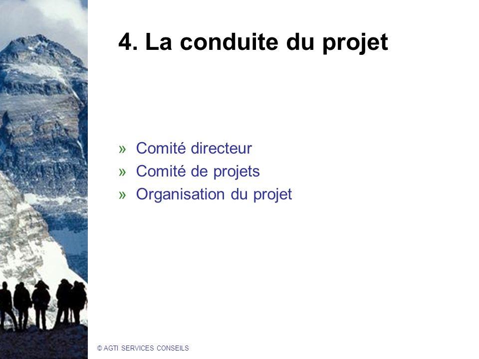 4. La conduite du projet Comité directeur Comité de projets