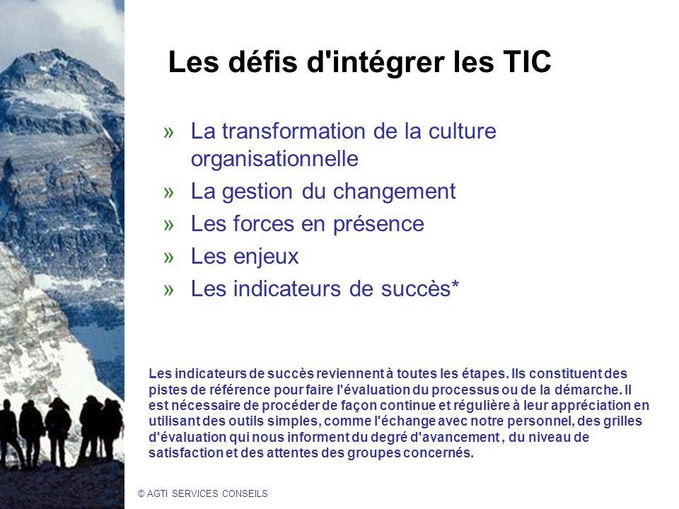 Les défis d intégrer les TIC