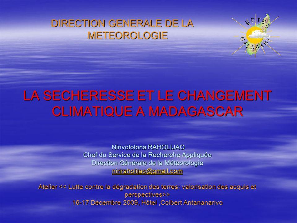DIRECTION GENERALE DE LA METEOROLOGIE