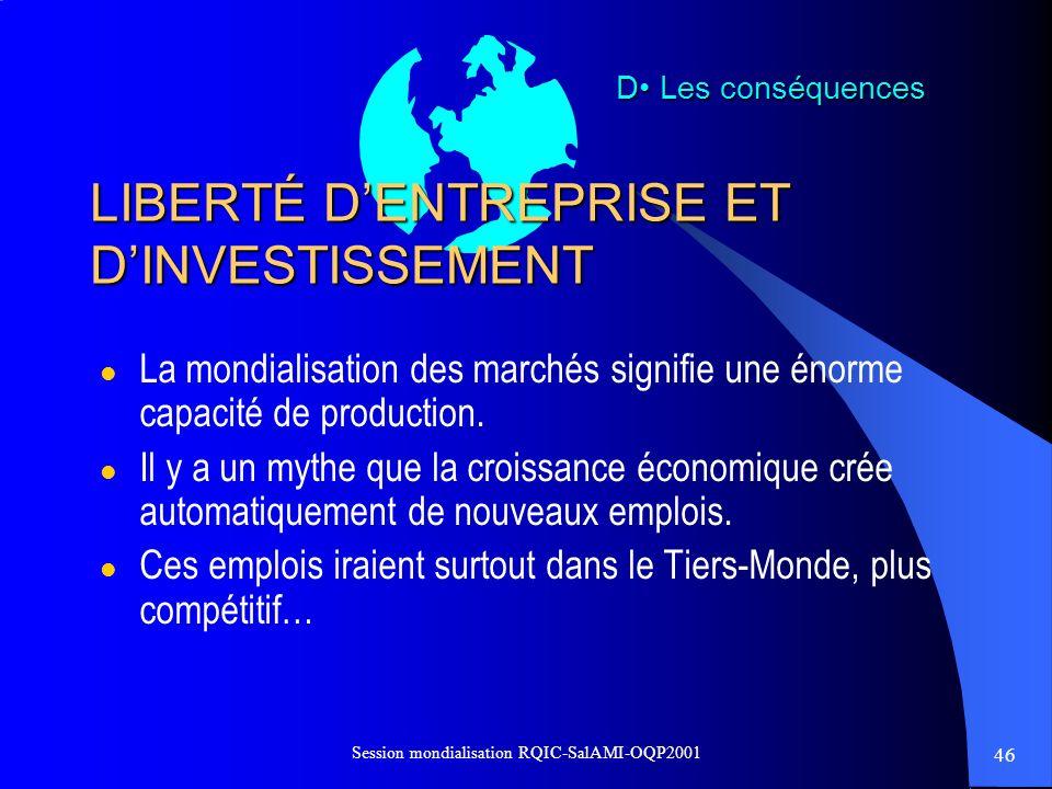 LIBERTÉ D'ENTREPRISE ET D'INVESTISSEMENT