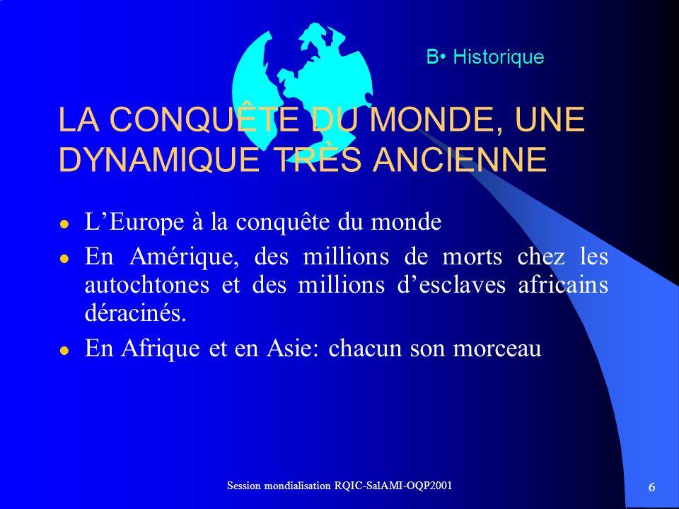 LA CONQUÊTE DU MONDE, UNE DYNAMIQUE TRÈS ANCIENNE