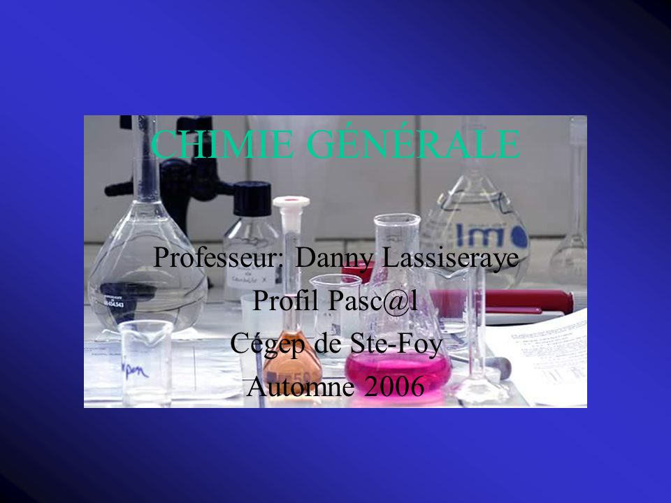 Professeur: Danny Lassiseraye