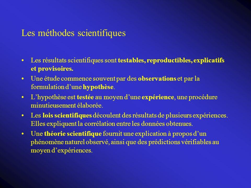 Les méthodes scientifiques