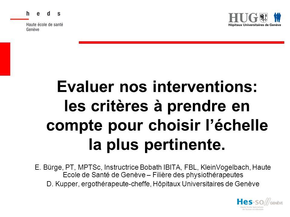 D. Kupper, ergothérapeute-cheffe, Hôpitaux Universitaires de Genève