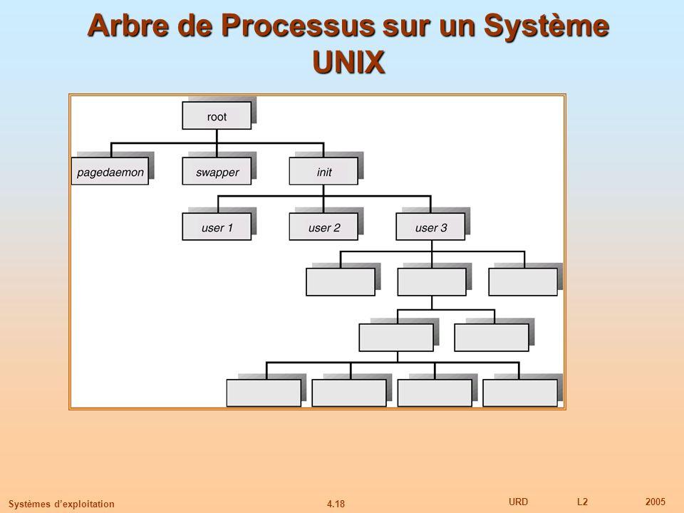 Arbre de Processus sur un Système UNIX