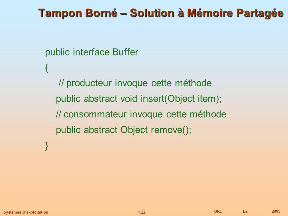 Tampon Borné – Solution à Mémoire Partagée