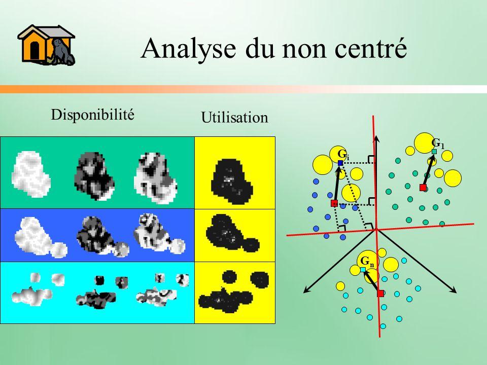 Analyse du non centré Disponibilité Utilisation G1 Gi Gn