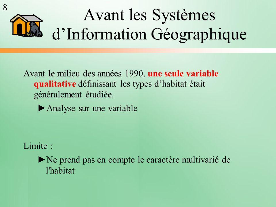 Avant les Systèmes d'Information Géographique