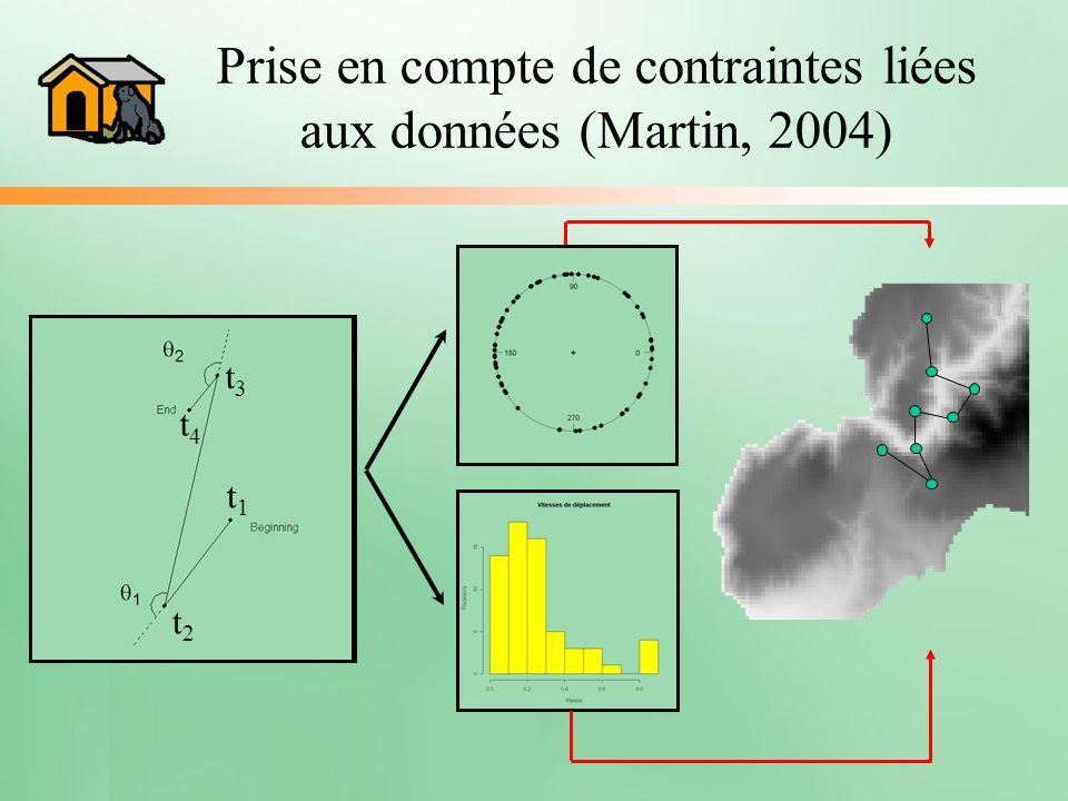 Prise en compte de contraintes liées aux données (Martin, 2004)