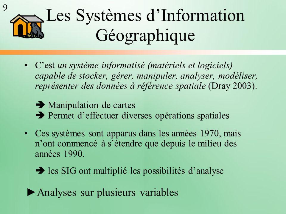 Les Systèmes d'Information Géographique