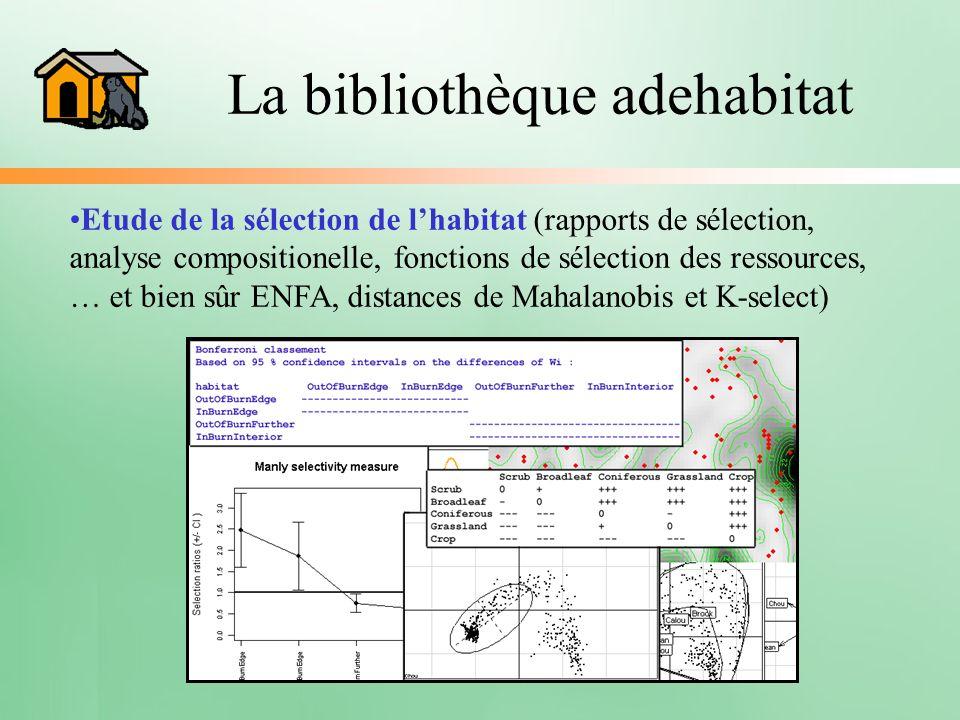 La bibliothèque adehabitat