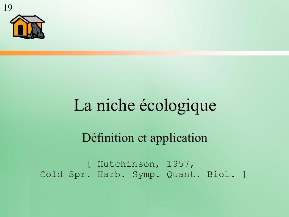 La niche écologique Définition et application 19