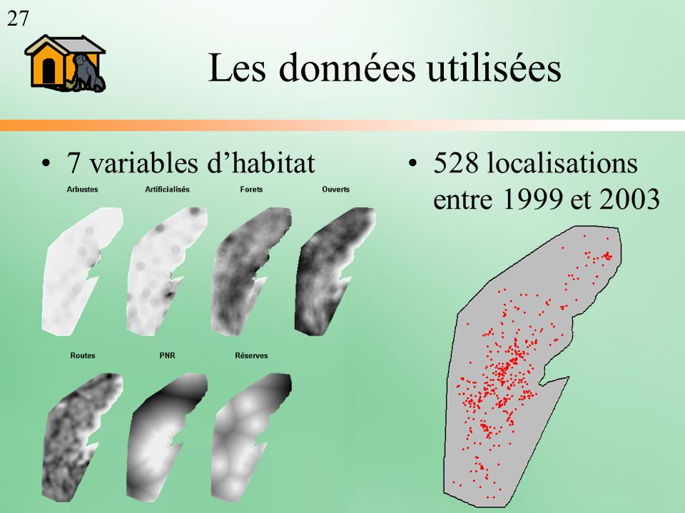 Les données utilisées 7 variables d'habitat