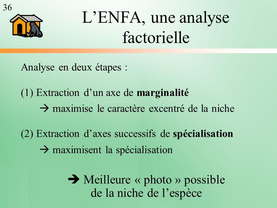L'ENFA, une analyse factorielle