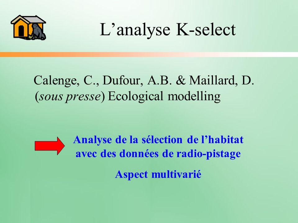 Analyse de la sélection de l'habitat avec des données de radio-pistage