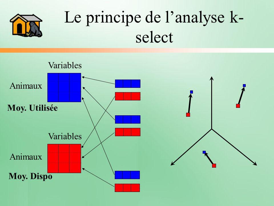 Le principe de l'analyse k-select