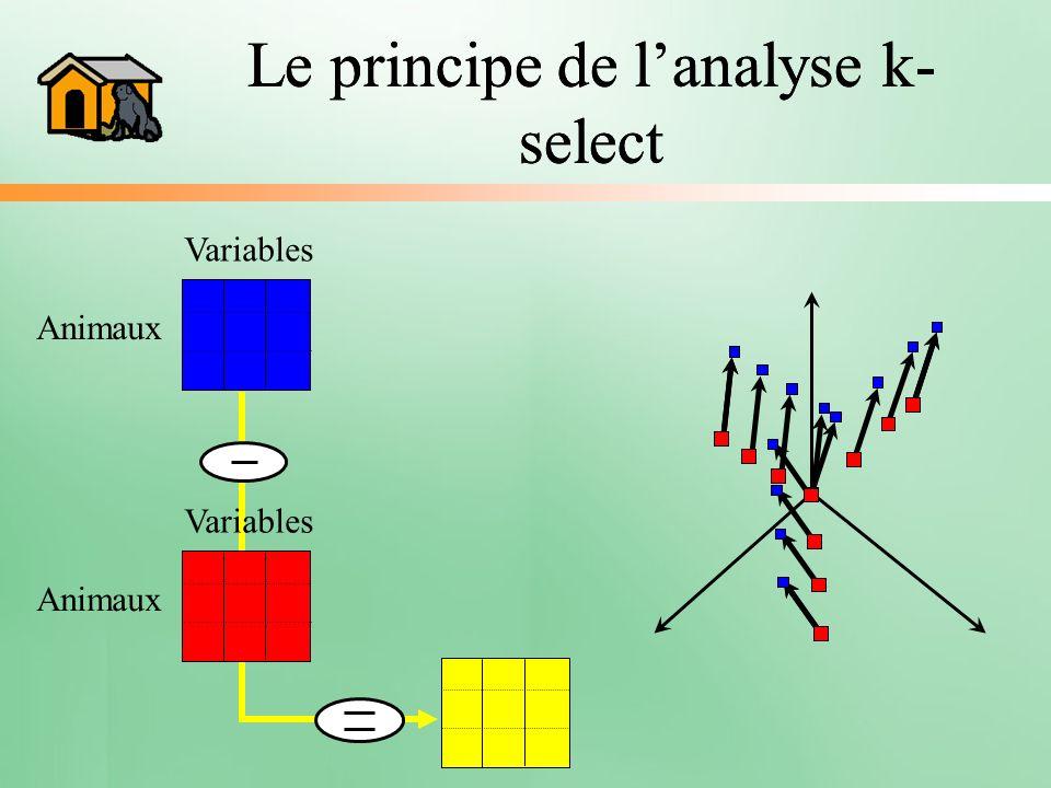 Le principe de l'analyse k-select Le principe de l'analyse k-select