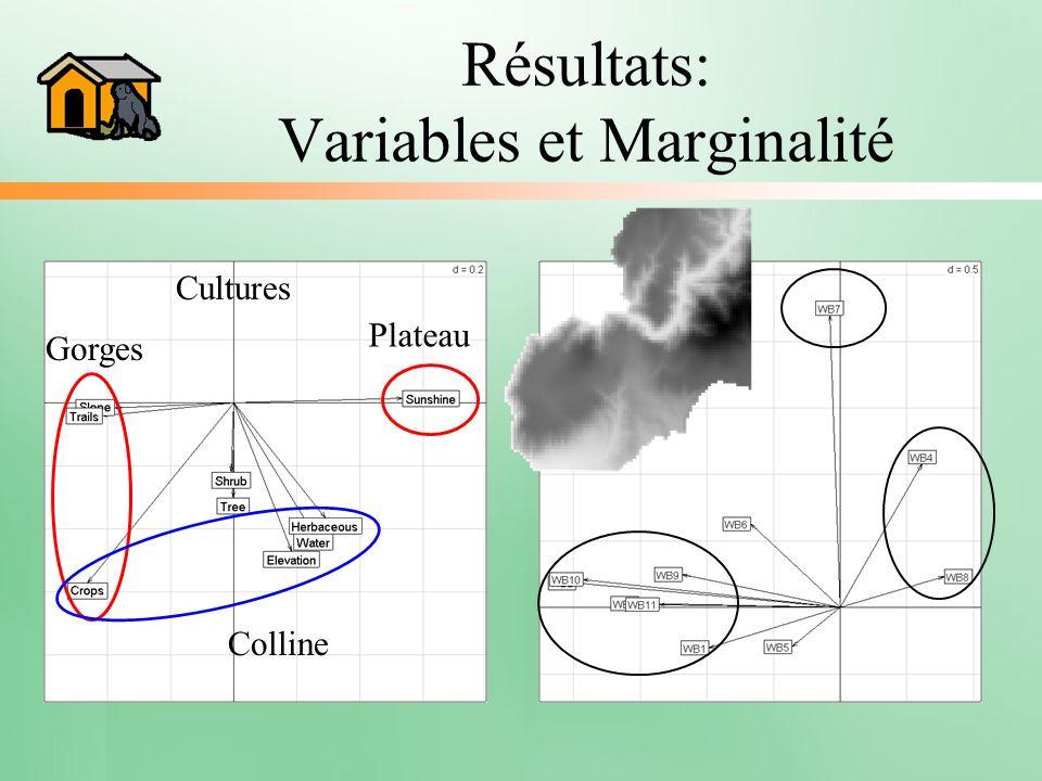 Résultats: Variables et Marginalité