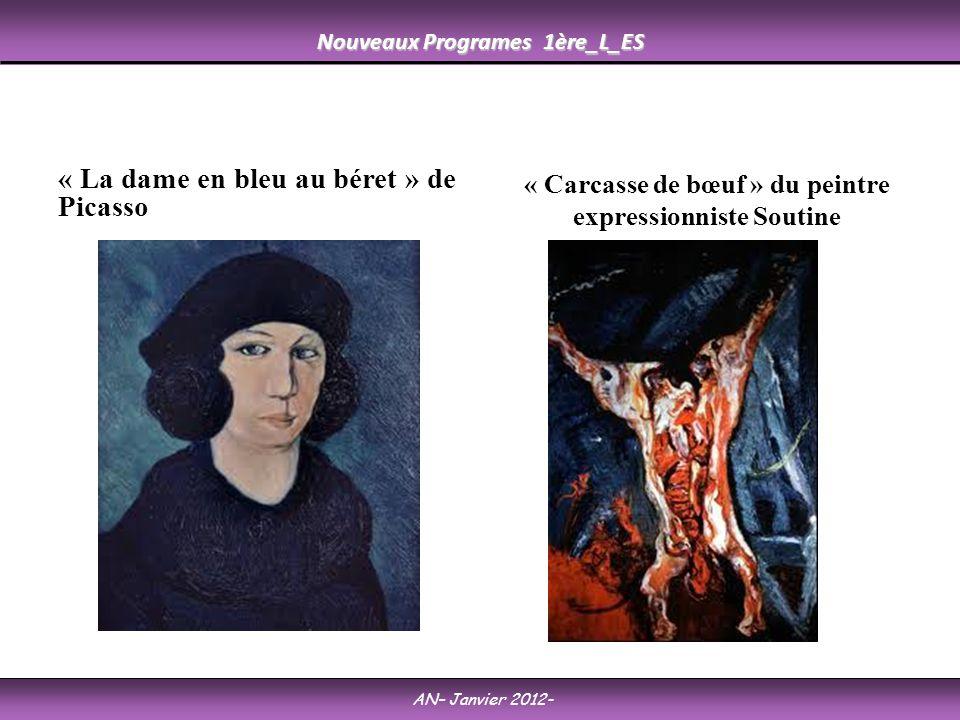 « La dame en bleu au béret » de Picasso