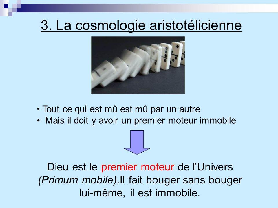 3. La cosmologie aristotélicienne