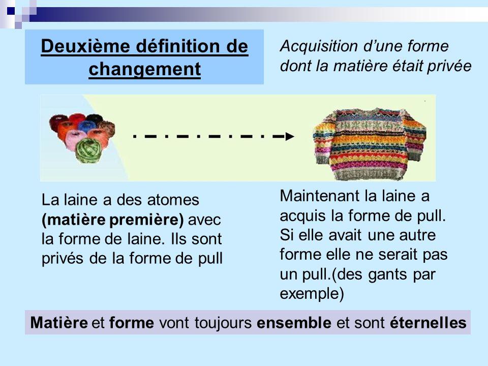 Deuxième définition de changement