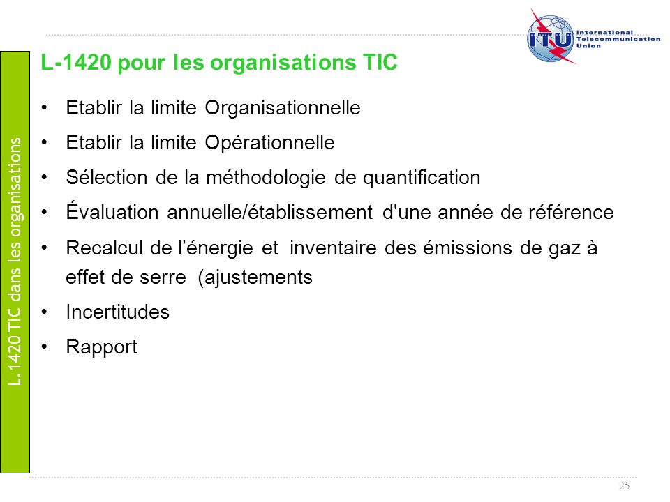 L-1420 pour les organisations TIC