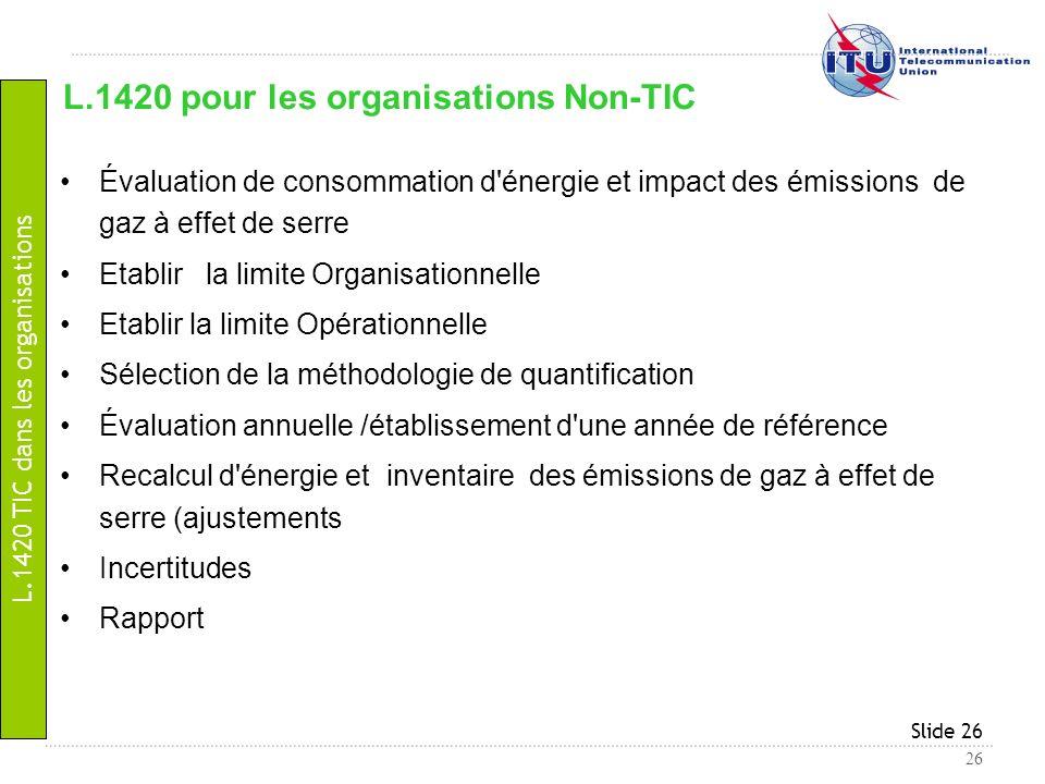 L.1420 pour les organisations Non-TIC