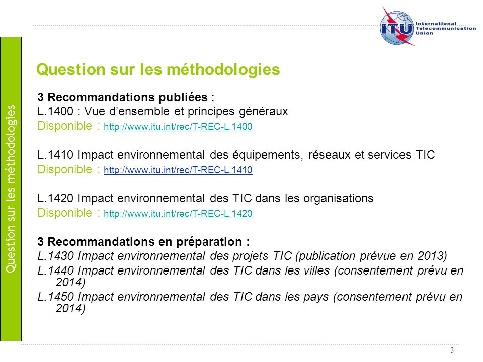 Question sur les méthodologies