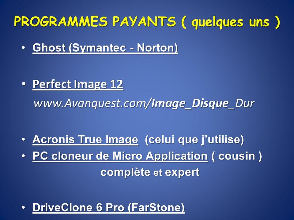 PROGRAMMES PAYANTS ( quelques uns )