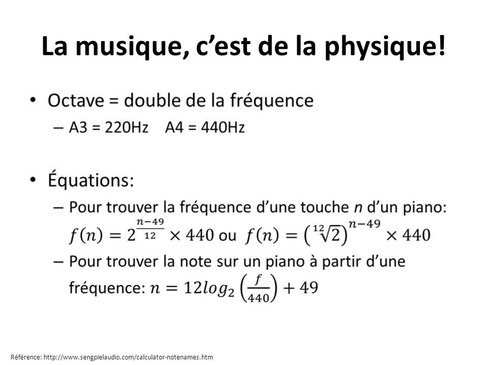 La musique, c'est de la physique!