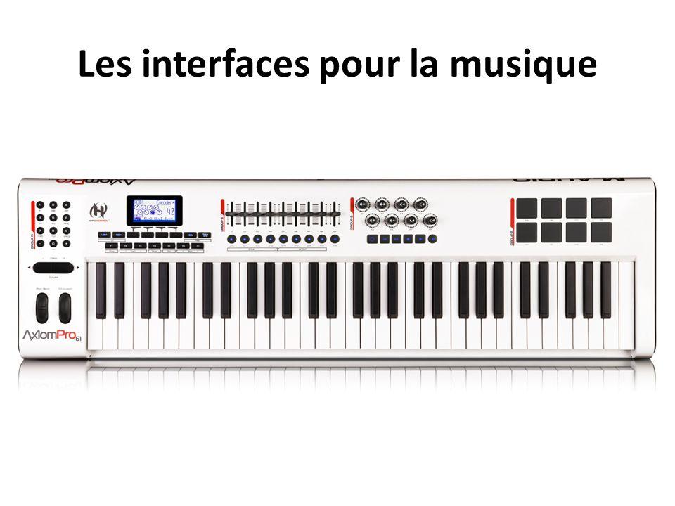 Les interfaces pour la musique