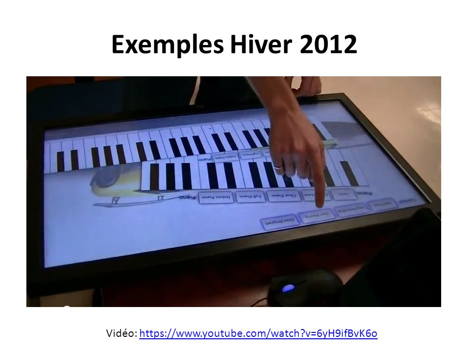 Exemples Hiver 2012 Vidéo: https://www.youtube.com/watch v=6yH9ifBvK6o