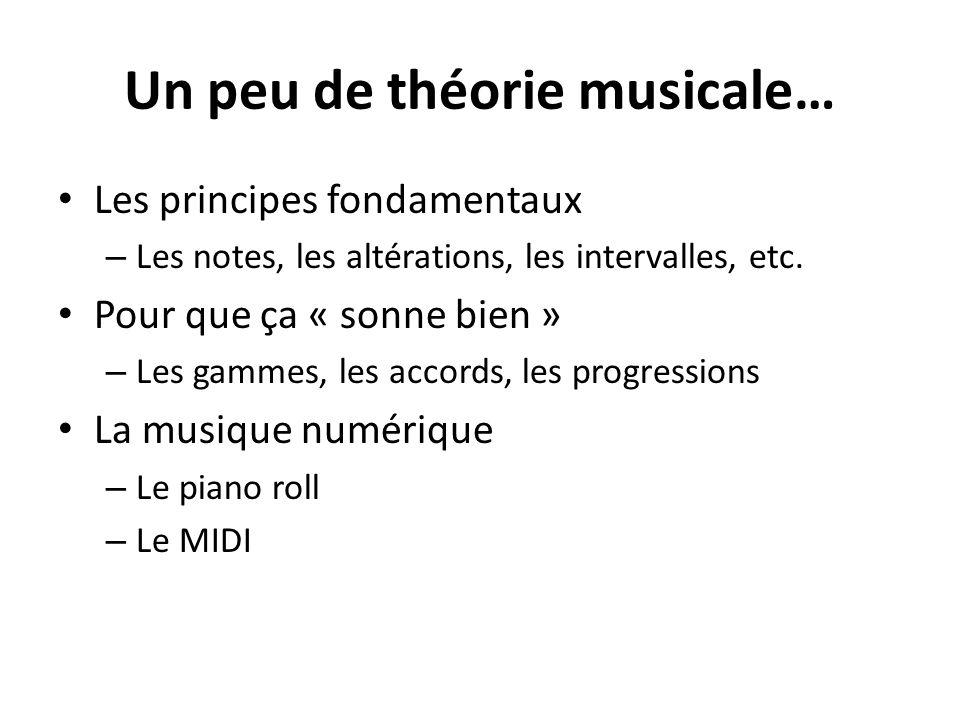 Un peu de théorie musicale…