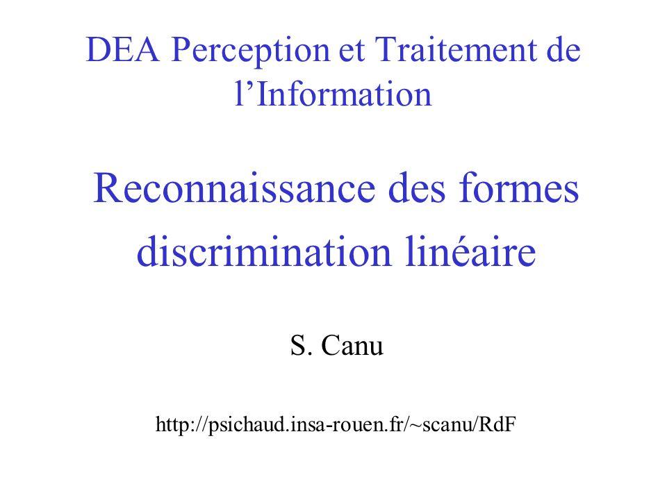 DEA Perception et Traitement de l'Information