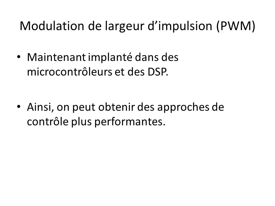 Modulation de largeur d'impulsion (PWM)