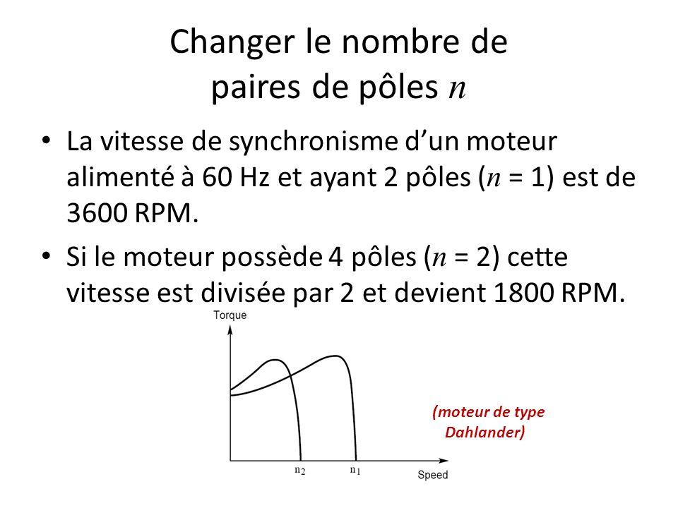Changer le nombre de paires de pôles n