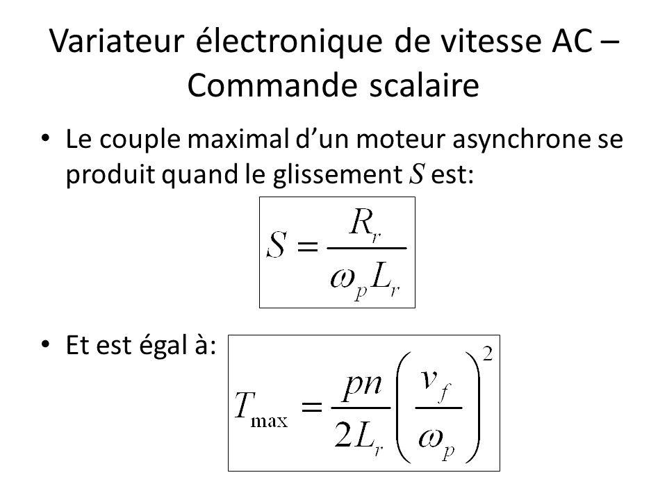 Variateur électronique de vitesse AC – Commande scalaire