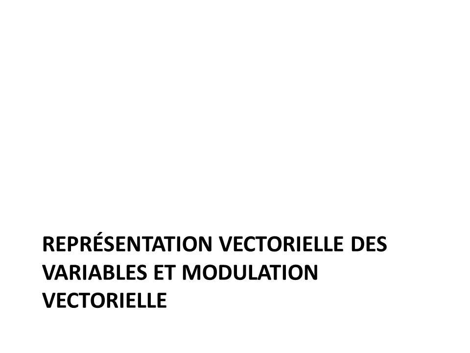 Représentation vectorielle des variables et modulation vectorielle