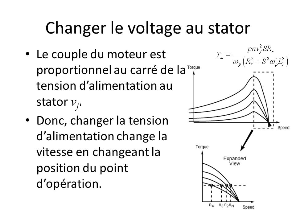 Changer le voltage au stator