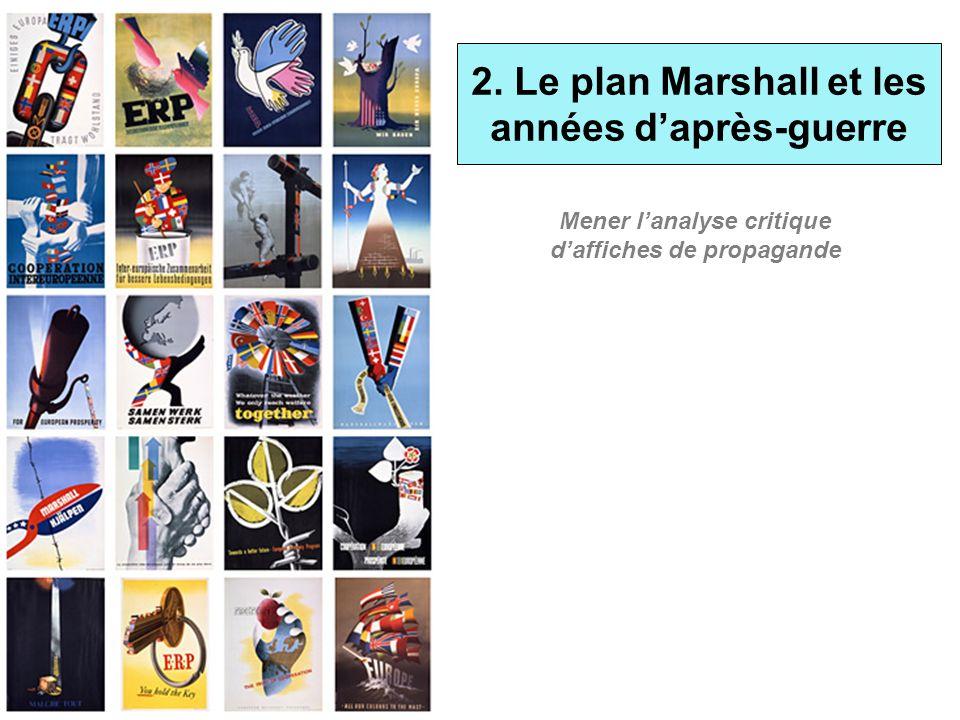 2. Le plan Marshall et les années d'après-guerre