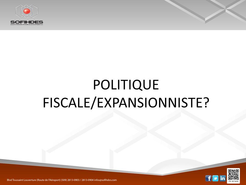 POLITIQUE FISCALE/EXPANSIONNISTE